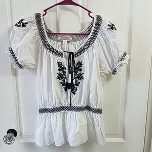 Betsey Johnson Embroidered blouse